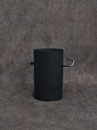 Kouřovod silnostěnný 250 mm s klapkou