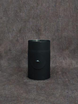 Kouřovod silnostěnný 250 mm s kontrolním otvorem