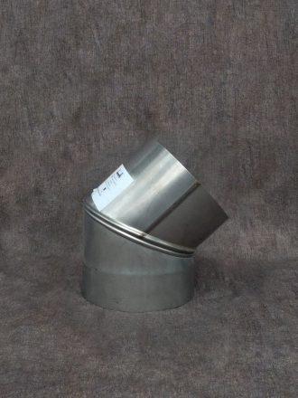 Nerezový kouřovod / pevná komínová vložka koleno stavitelné dvousegmentové
