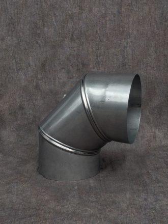 Nerezový kouřovod / pevná komínová vložka koleno stavitelné třísegmentové