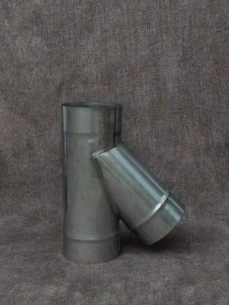 Stainless Steel Stove Pipe / Chimney Flue Tee 45°